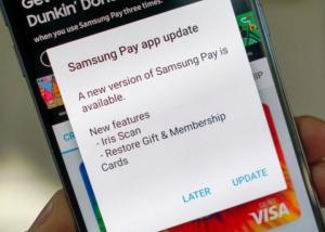 تحديث جديد لتطبيق Samsung Pay  بخاصية التعرف على قزحية العين