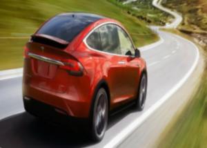 """""""تسلا"""" تقدم أول نسخة خاصة من سيارتها Model X باللون الأحمر"""