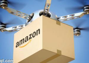 """تهديدا جديدا لشركات الشحن :"""" أمازون """" نجاح أول عملية توصيل جوي بدون طيار"""