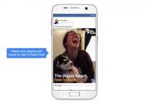 تطبيق الفيسبوك سيشغل قريبا الفيديوهات بشكل تلقائي مع الصوت