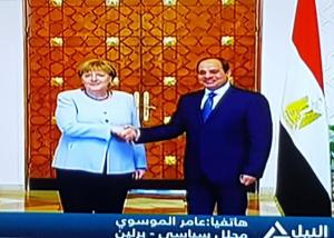ميركل : بداية لمرحلة جديدة من التعاون والتنمية الاقتصادية والتكنولوجية والتنسيق الأمني بين القاهرة وبرلين